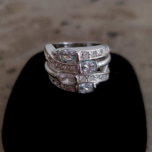 Item #13 - Cubic Zirconia sparkle ring (Size 7)
