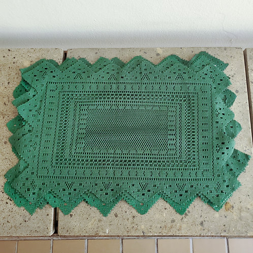 Item #4 - Set of 8 Green Placemats