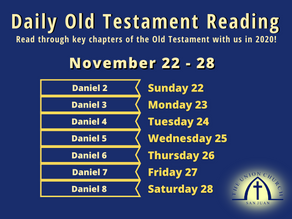 Old Testament Reading for the Week