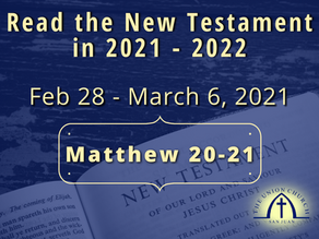 Read the New Testament in 2021-2022