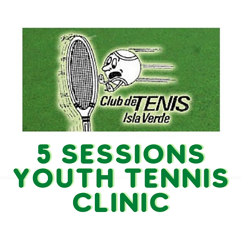 Item #22 - 5 Sessions Youth Tennis Clinic at Isla Verde Tennis Club