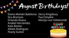 [AUGUST] Member Birthdays