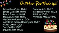 October Birthdays!