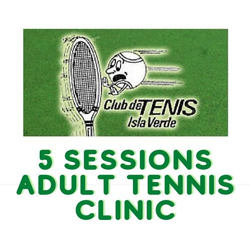 Item #23 - 5 Sessions Adult Tennis Clinic at Isla Verde Tennis Club