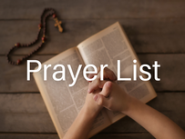 Prayer List (Updated: April 6, 2021)
