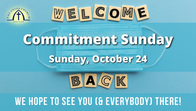 Welcome Back Sunday - October 24