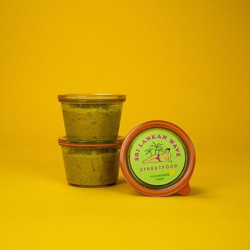 Kichererbsen Curry, Essen im Glas, klein