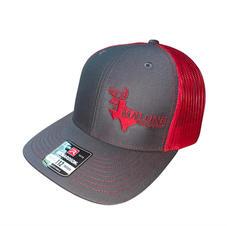 H01 - Dark Gray & Red - $22