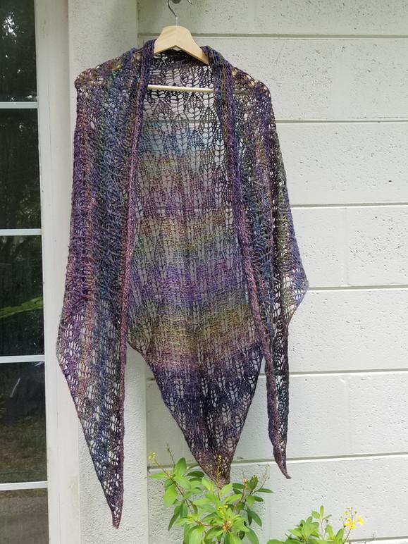 Lois Warren - handspun knit shawl