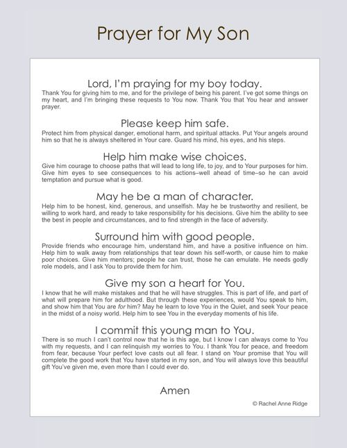 Prayers for Your Teen_Young Adult Kids -