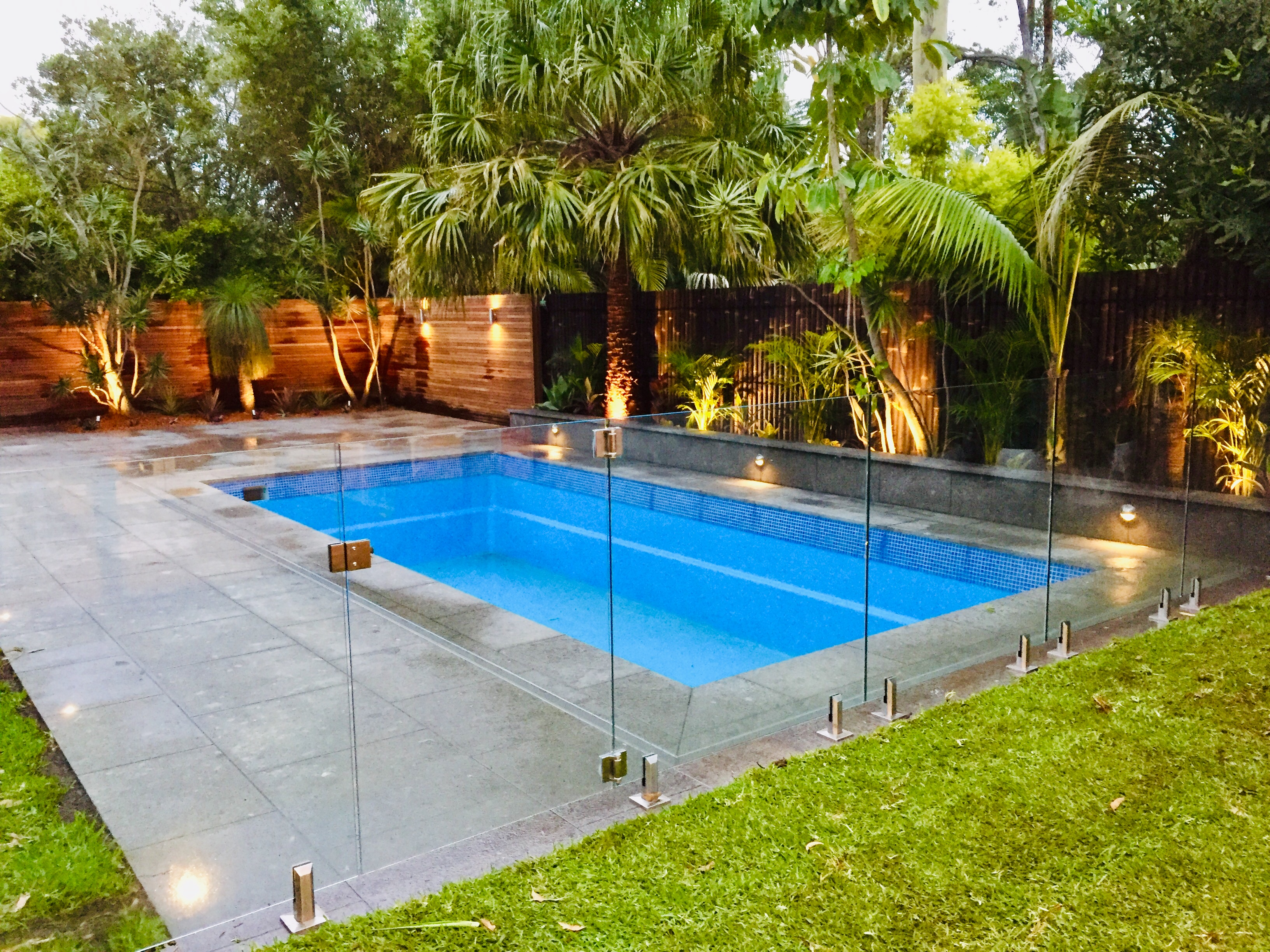 Pool Renovation - Paving - Glass Fence -