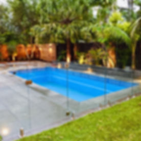 Pool Renovation - Paving - Glass Fence -