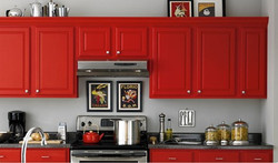 red-painted-kitchen-cabinet