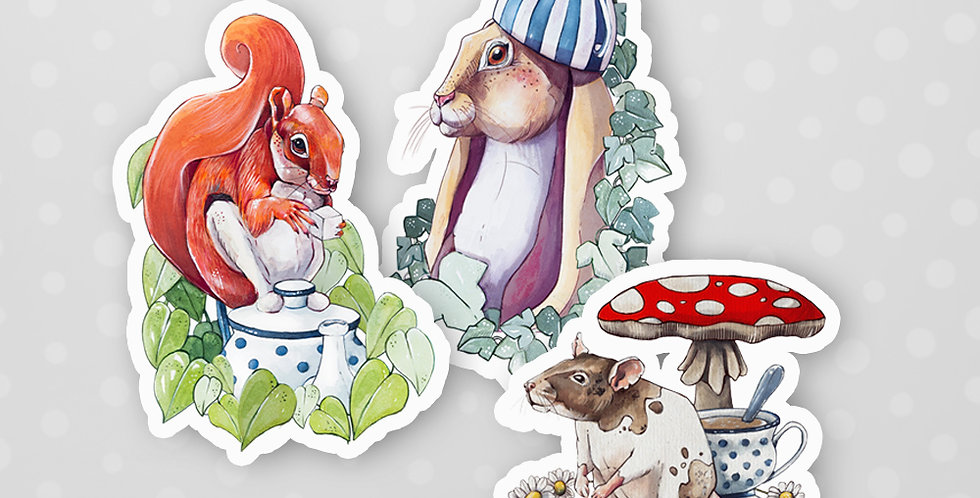"""Tea Time"" Sticker Pack"