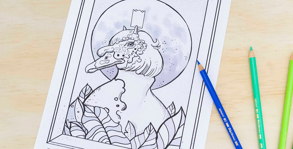 Duck King Colouring Page (Download)