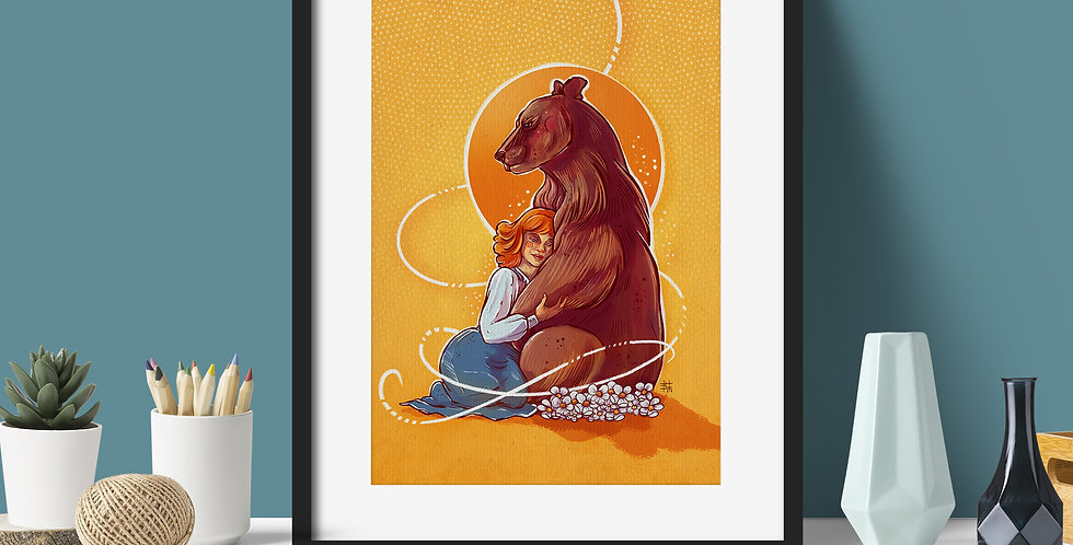 """Bear Hug""   Fine Art Print"