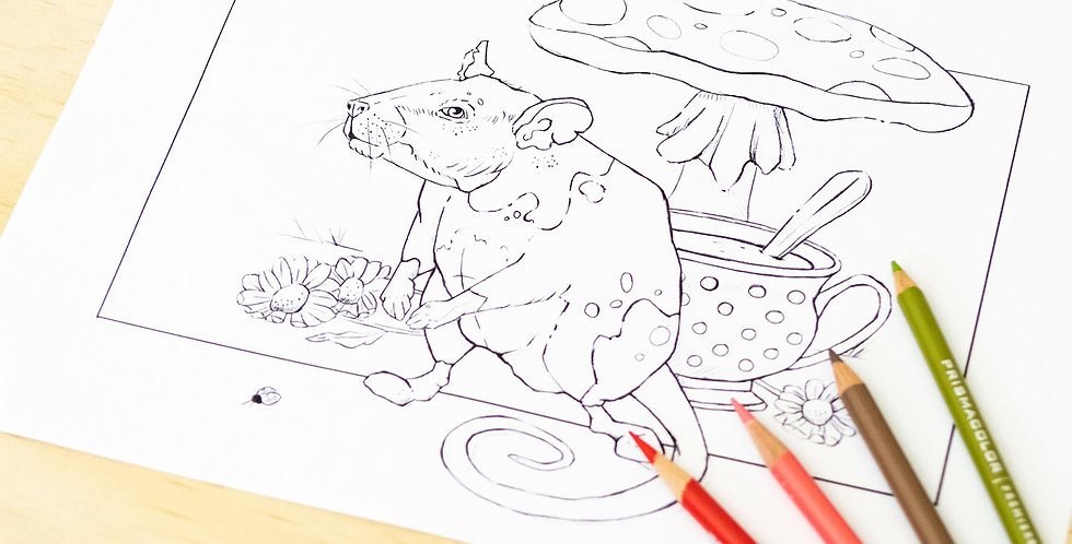 """Archie Earl Grey"" Colouring Page (Download)"