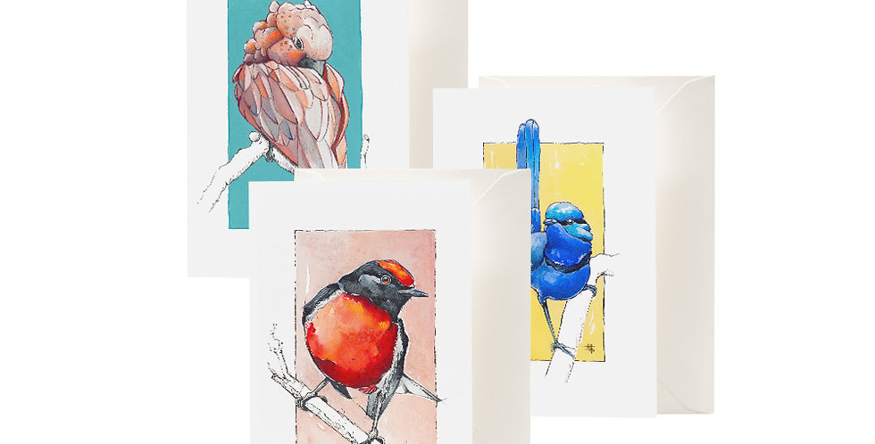 """""""A Little Birdy"""" Greeting Cards"""