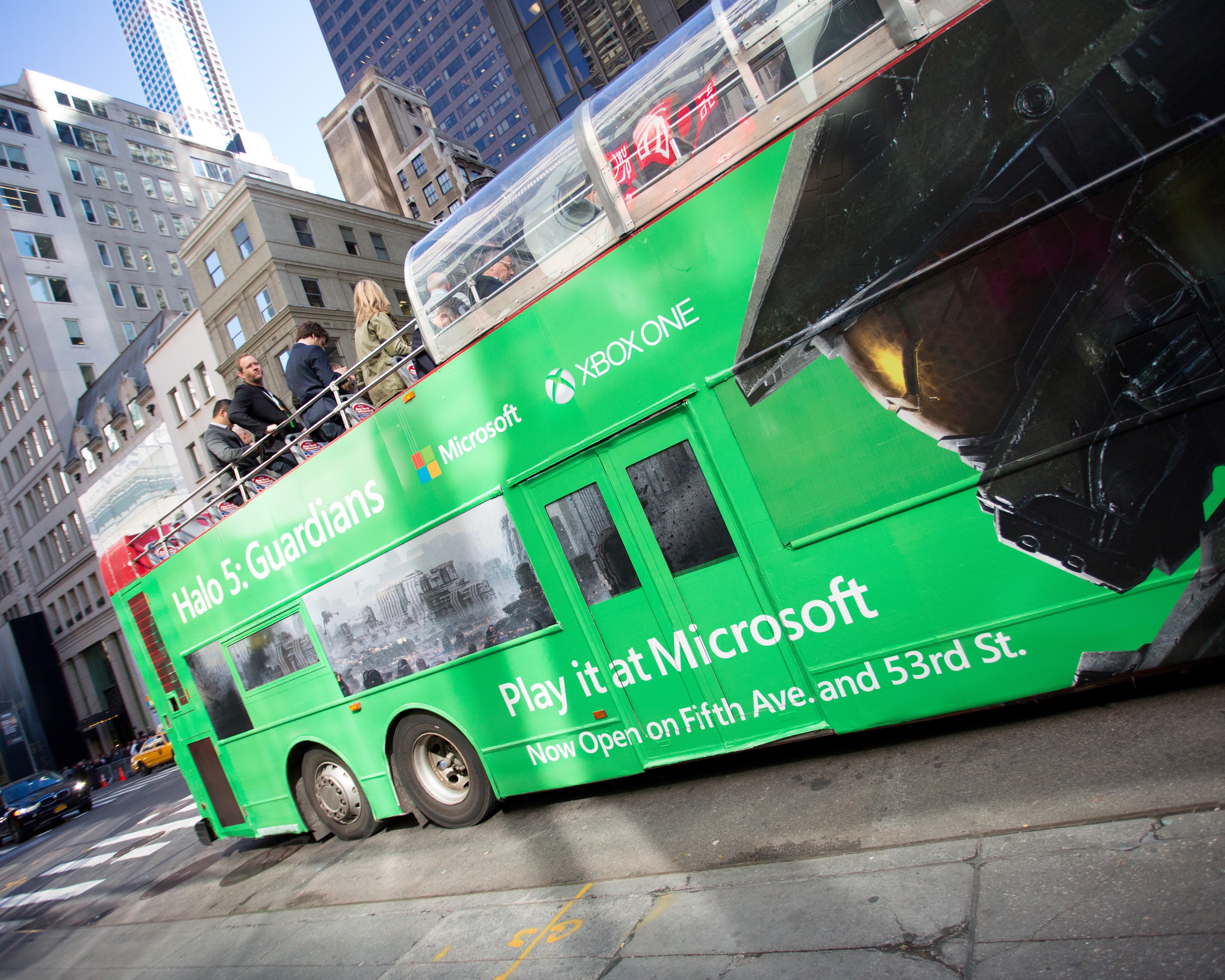 Microsoft Bus Wrap in NYC