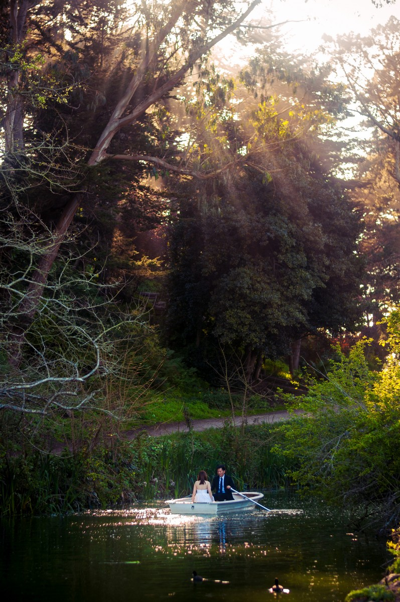 Stow Lake Engagement Photos