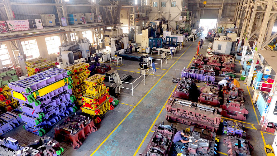 Banner image of Reliable Autotech research and development plant with machines and dies for the automotive industry