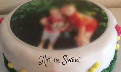 Torte mit Kinderbild