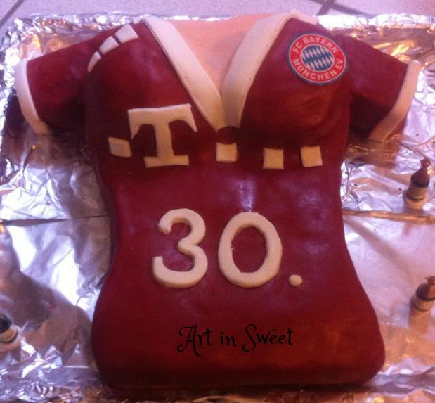 Fussballshirt Torte