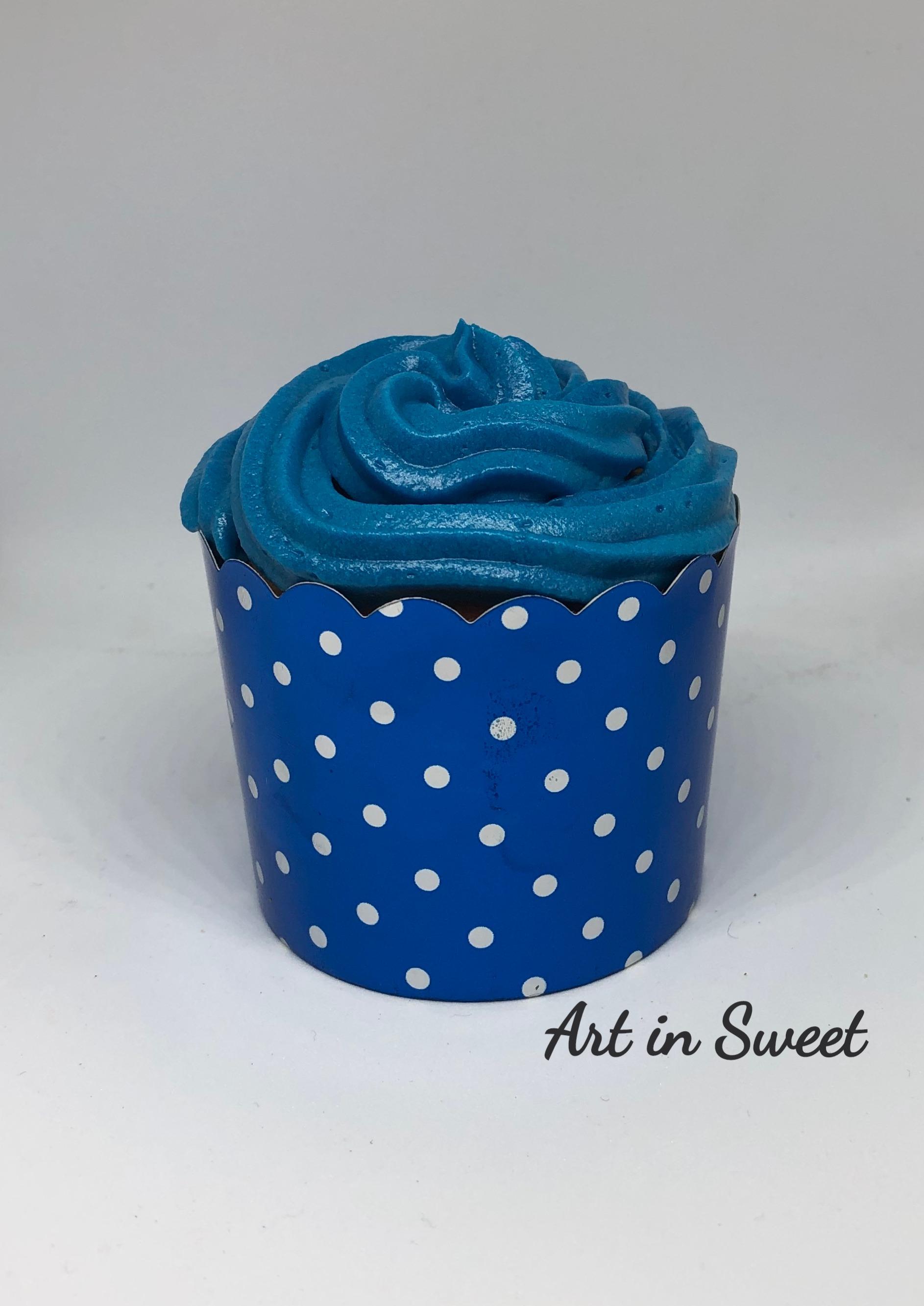 Cupcake blau
