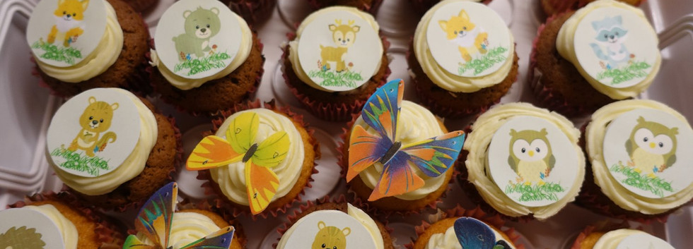 Waldtiere Cupcakes