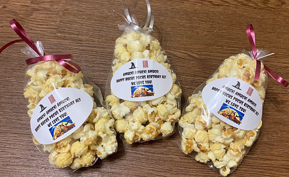 10 Pack - 1 Cup Kettle Korn Bags (Custom Labels)