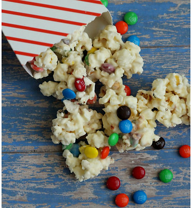 White Chocolate M&M Kettle Korn