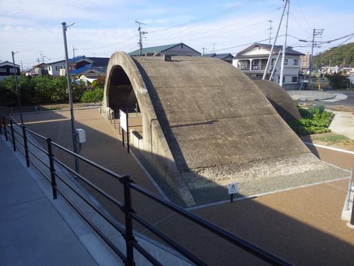 松山市 指定文化財 掩体壕 保存工事完成!