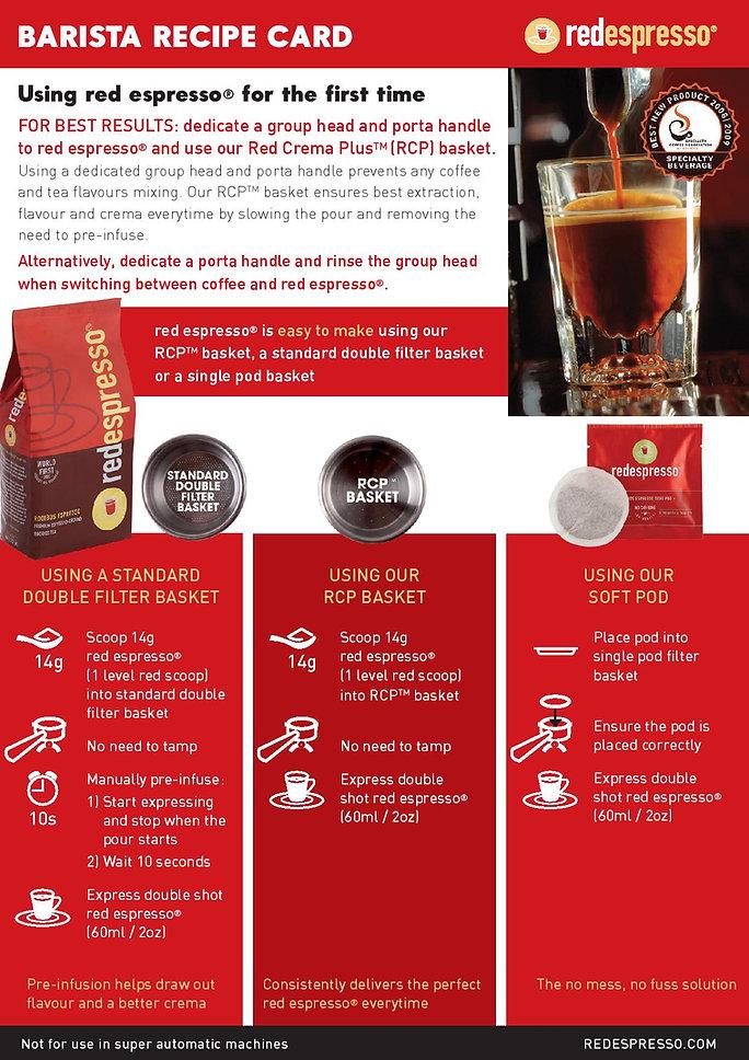 How to make Red Espresso