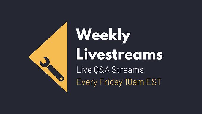 Weekly Q&A Live Streams