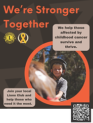 Lions Canada Childhood Cancer Poster 1 E