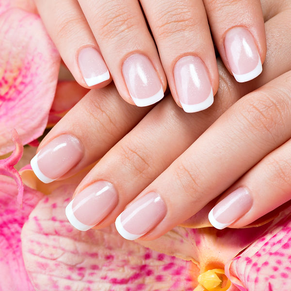 Beautiful woman's nails with beautiful f