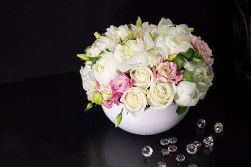 Peonies flower arrangement in soft light pink and white colors miami mightylinksfo