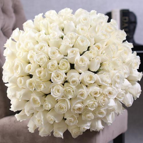 100 premium white roses bouquet long stemmed rose bouquet