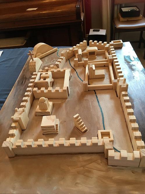 Wooden Model City of Jerusalem