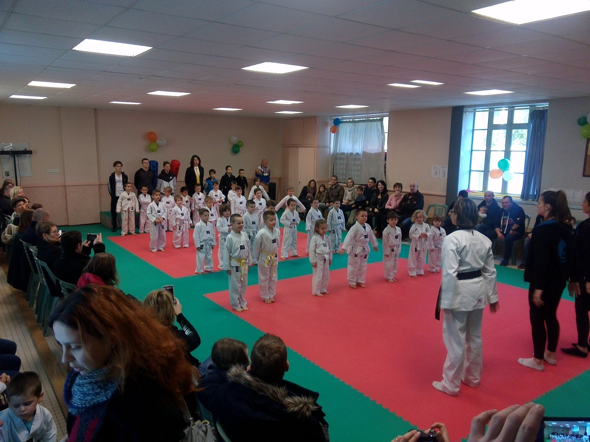 Taekwondoïstes en herbe