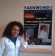 Taekwondo la Garnache avec Anne-Caroline Graffe