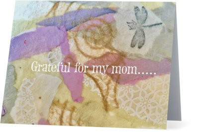 """""""Grateful for my Mom""""-Note card"""