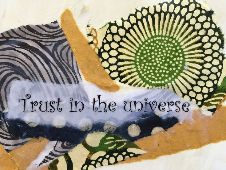 """Trust in the Universe"" Note card"