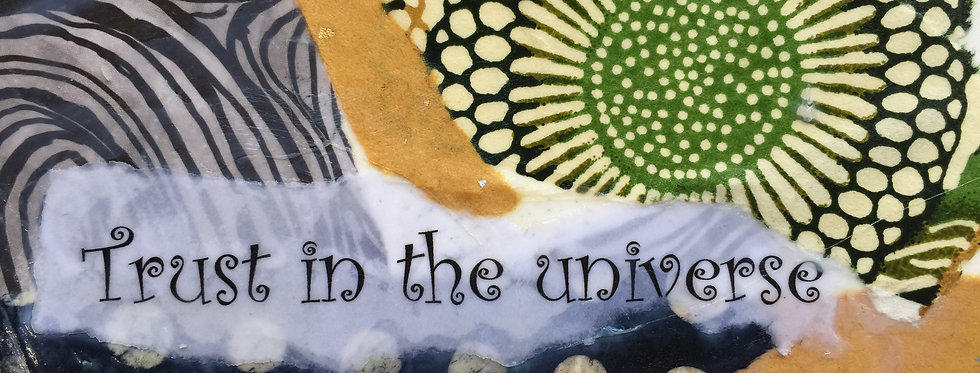 """""""Trust in the Universe"""" Note card"""