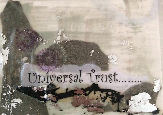"""Universal Trust"" Encaustic-SOLD"