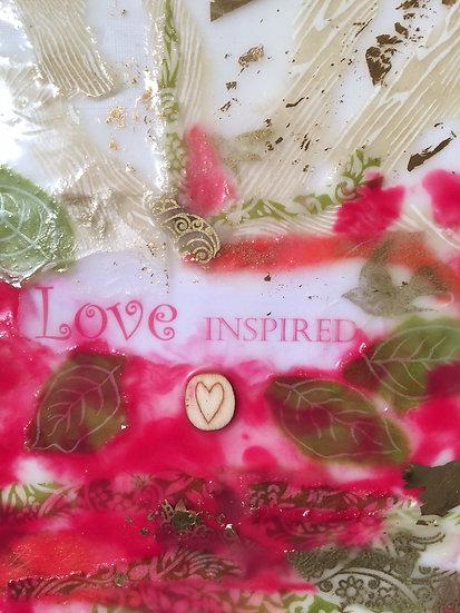 """Love Inspired"" Encaustic-SOLD"