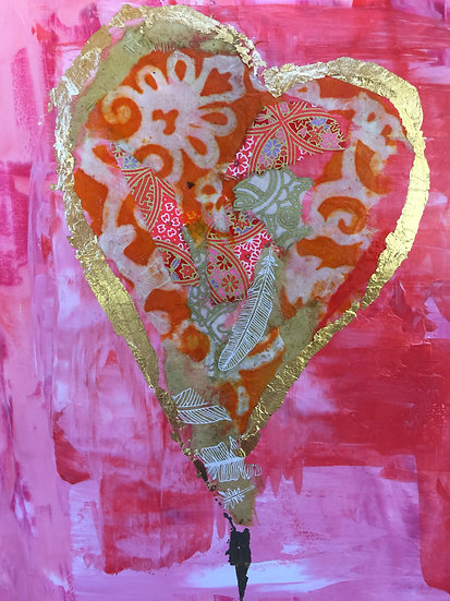 """Golden Heart"" Note card"