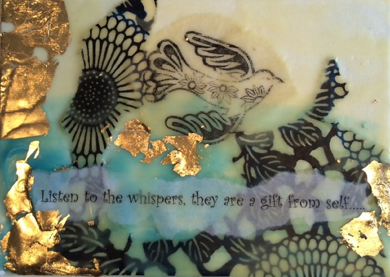 """Whispers""- Note Card"