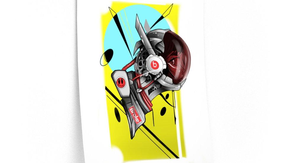 "Premium Matte art print ""space beats"""