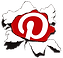 our pinterest link icon